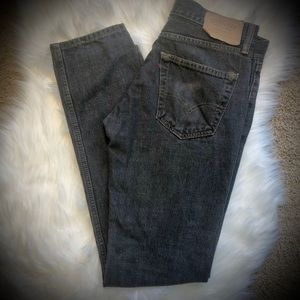 Signature Levi Strauss Relaxed Fit Dark Wash Jeans
